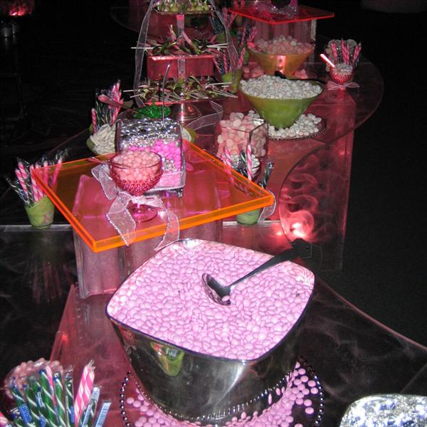 After-Party Lighted Candy Buffet