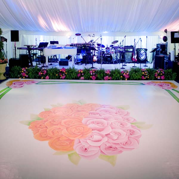 Hand Painted Dance Floor
